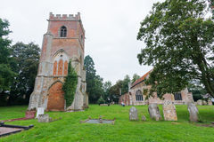 Tydd St. Giles Church & bell tower cambridgeshire Stock Images