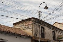 1991 tydligt för stad för kyrkor för bolivia byggnadscapital koloniala kulturella har det viktiga arvet dess för scapescapes för  royaltyfri bild
