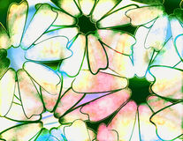 Tye dye daisy Stock Photography