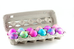 Tye Dye Easter Eggs Stock Photo