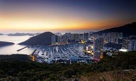 Tyfonskydd i Hong Kong Arkivbild