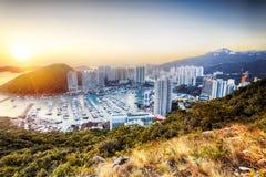 Tyfonskydd i Hong Kong Royaltyfri Fotografi