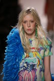 Tyg Davison walks the runway at the Jeremy Scott show Stock Photos