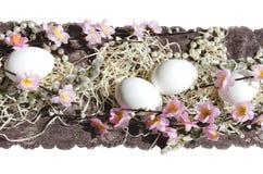 Tyg för kakan för påskägget snör åt pärlan Royaltyfria Foton