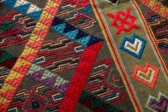 tyg från Bhutan Arkivbild