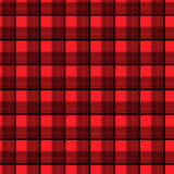 Tyg i sömlös modelltartan för röd och svart fiber EPS10 Arkivbilder