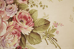 Tyg med blom- design Royaltyfria Foton