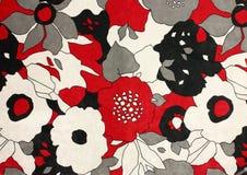 Tyg med blommamodellen Arkivbilder