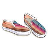 tyg shoes sommar Fotografering för Bildbyråer
