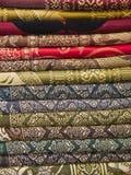 tyg vikt silk staplat thai Fotografering för Bildbyråer