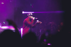 Tyga performing in Moscow, Russia Royalty Free Stock Photo