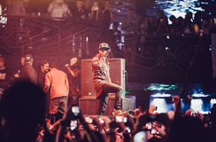 Tyga performing in Moscow, Russia Stock Image