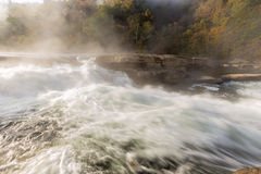 Tygart River cascades over rocks at Valley Falls S Stock Photography