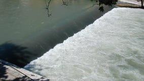 Tygel av den Tiber floden lager videofilmer