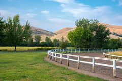 Rural Racetrack at the fairgrounds. Tygh County Fairgrounds in Oregon Royalty Free Stock Photos