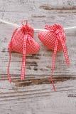 Tyghjärta för valentindag Arkivfoto