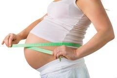 39 tygodni brzucha ciężarny rozmiar Zdjęcia Royalty Free