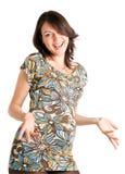 tygodnie 21 szczęśliwa kobieta w ciąży Obrazy Stock