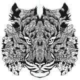 TYGRYS głowy tatuaż psychodeliczny Obrazy Royalty Free