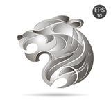 Tygrys głowy profilu logo Akcyjny wektor Zdjęcia Royalty Free