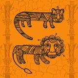Tygrys i Leo Zdjęcie Stock