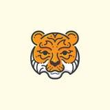 Tygrys linia ilustracja wektor