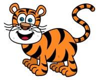 Tygrys ono uśmiecha się na profilu ilustracji