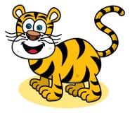 Tygrys ono uśmiecha się na profilu Fotografia Royalty Free