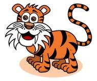 Tygrys ono uśmiecha się na profilu ilustracja wektor