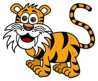 Tygrys ono uśmiecha się na profilu Zdjęcia Royalty Free