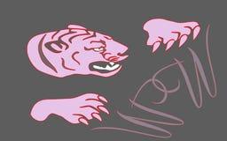 Tygrys W i dwa Zdjęcia Stock