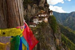 Tygrysa Gniazdowy monaster, Paro, Bhutan Zdjęcia Stock