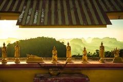 Tygrysi świątynni buddhas Obraz Royalty Free
