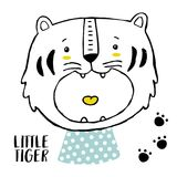 Tygrysi dziecko druk Fotografia Royalty Free