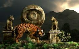 Tygrysi oko zabytek ilustracja wektor