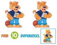 Tygrysi znalezisko 10 różnic ilustracji