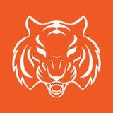 Tygrysia ikona odizolowywająca na białym tle Tygrysi logo Zdjęcie Stock