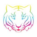 Tygrysia ikona odizolowywająca na białym tle Tygrysi logo Fotografia Stock