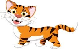Tygrysia kreskówka dla ciebie projektuje Zdjęcia Royalty Free