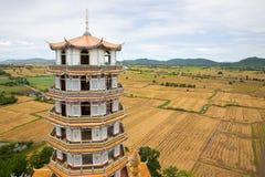 Tygrysia pagodowa świątynia, Kanchanaburi Tajlandia Zdjęcie Stock