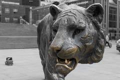 Tygrysia statua Oslo fotografia stock