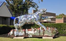 Tygrysia statuy ręka Dekorująca Zdjęcie Royalty Free