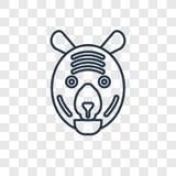 Tygrysiego pojęcia wektorowa liniowa ikona odizolowywająca na przejrzystym backgro royalty ilustracja