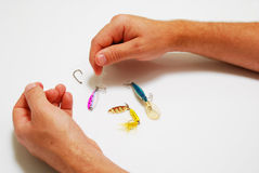 Tying Lures Royalty Free Stock Photos