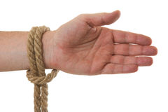 Tying ropes Stock Image