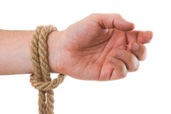 Tying ropes Royalty Free Stock Photo