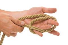 Tying ropes Royalty Free Stock Image
