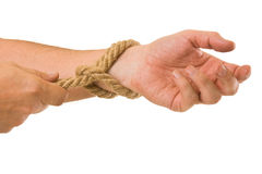 Tying ropes Royalty Free Stock Images