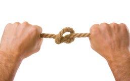 Tying ropes Stock Image