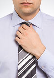 Tying a Tie Royalty Free Stock Photo
